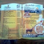 Meniu prețuri Oktoberfest 2012